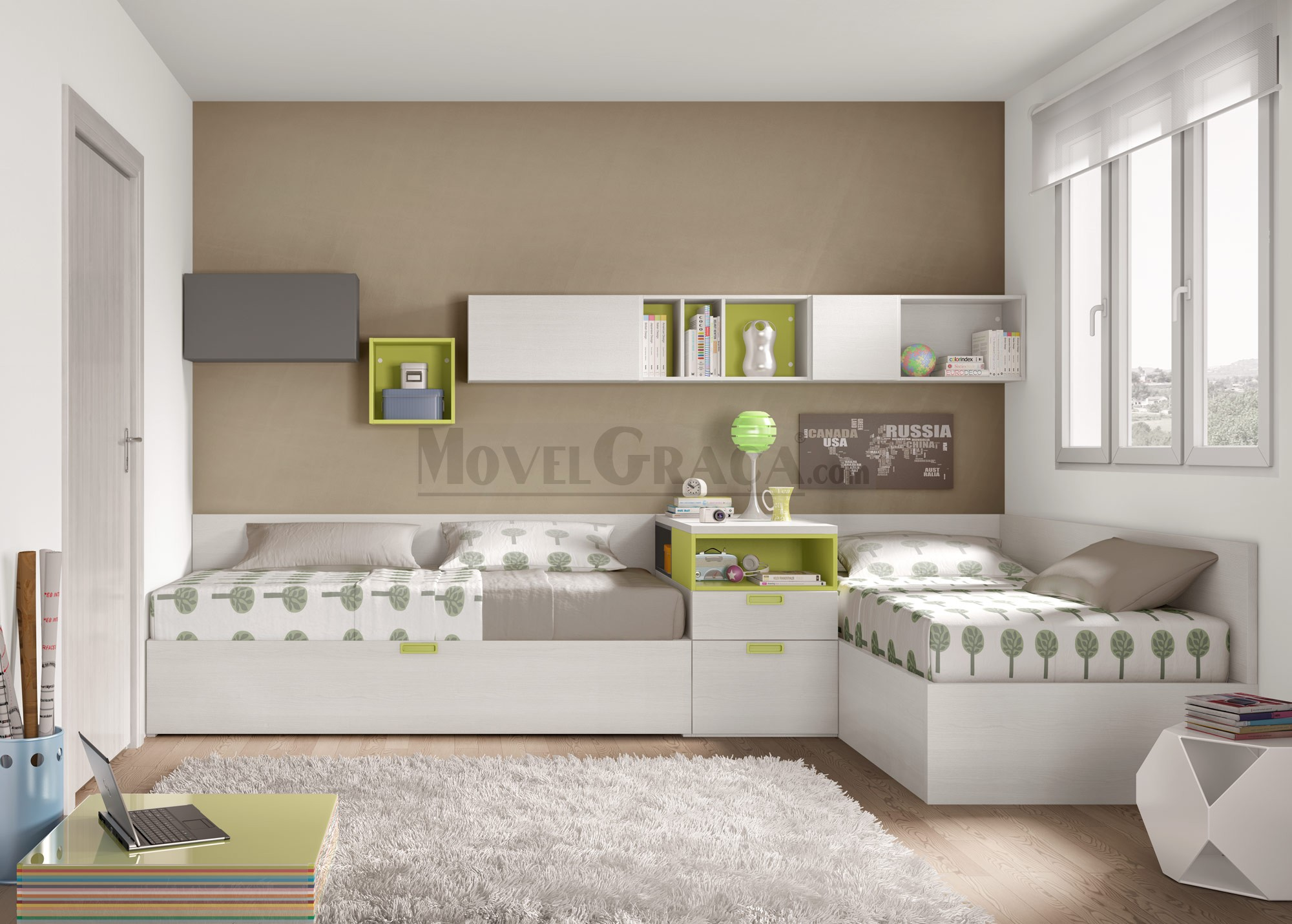 Movelgra a mobili rio e decora o barcelos quartos - Vinilos conforama ...